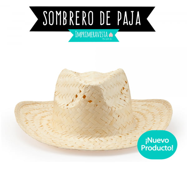 Sombrero de paja color crudo